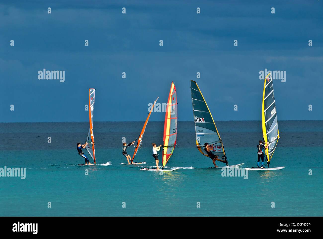 Wind Surf, Sicilia, Italia Immagini Stock