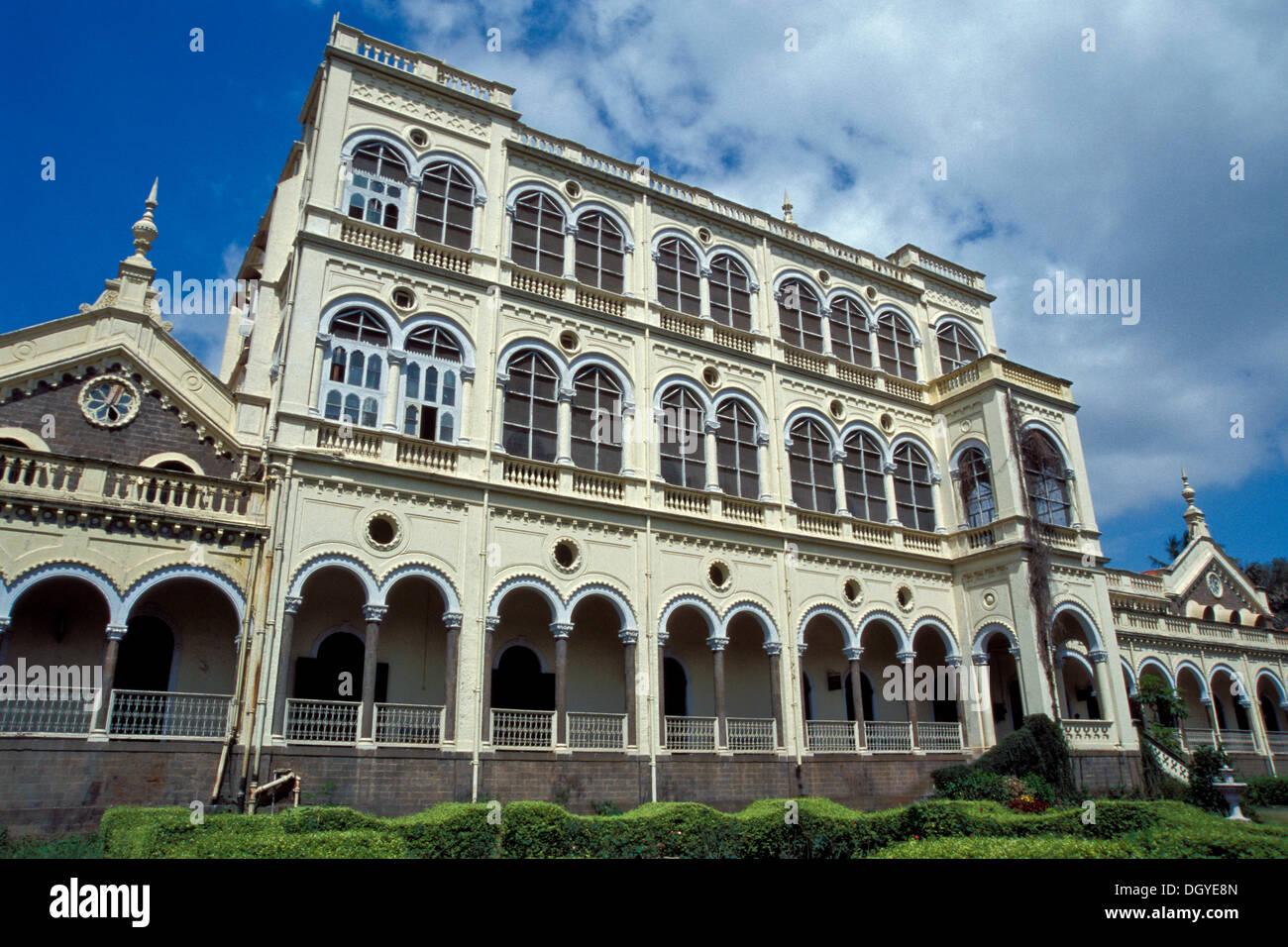 Aga Khan Palace, Pune o Poona, Maharashtra, India, Asia Immagini Stock