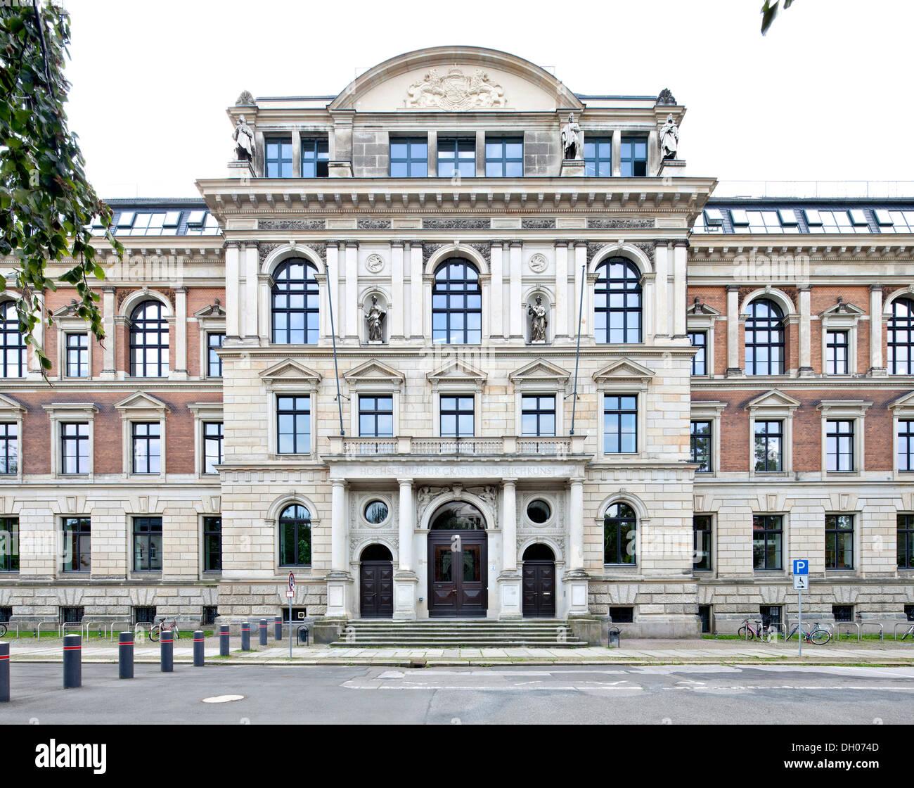 Accademia di Arti Visive, Lipsia, Sassonia, PublicGround Immagini Stock