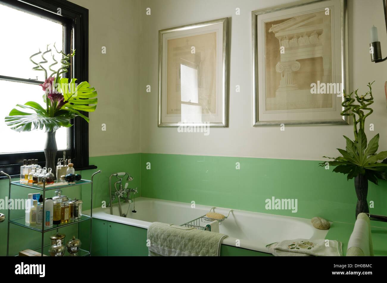 Vasca Da Bagno Disegno : Accessori bagno con vetro verde per il pannello della vasca