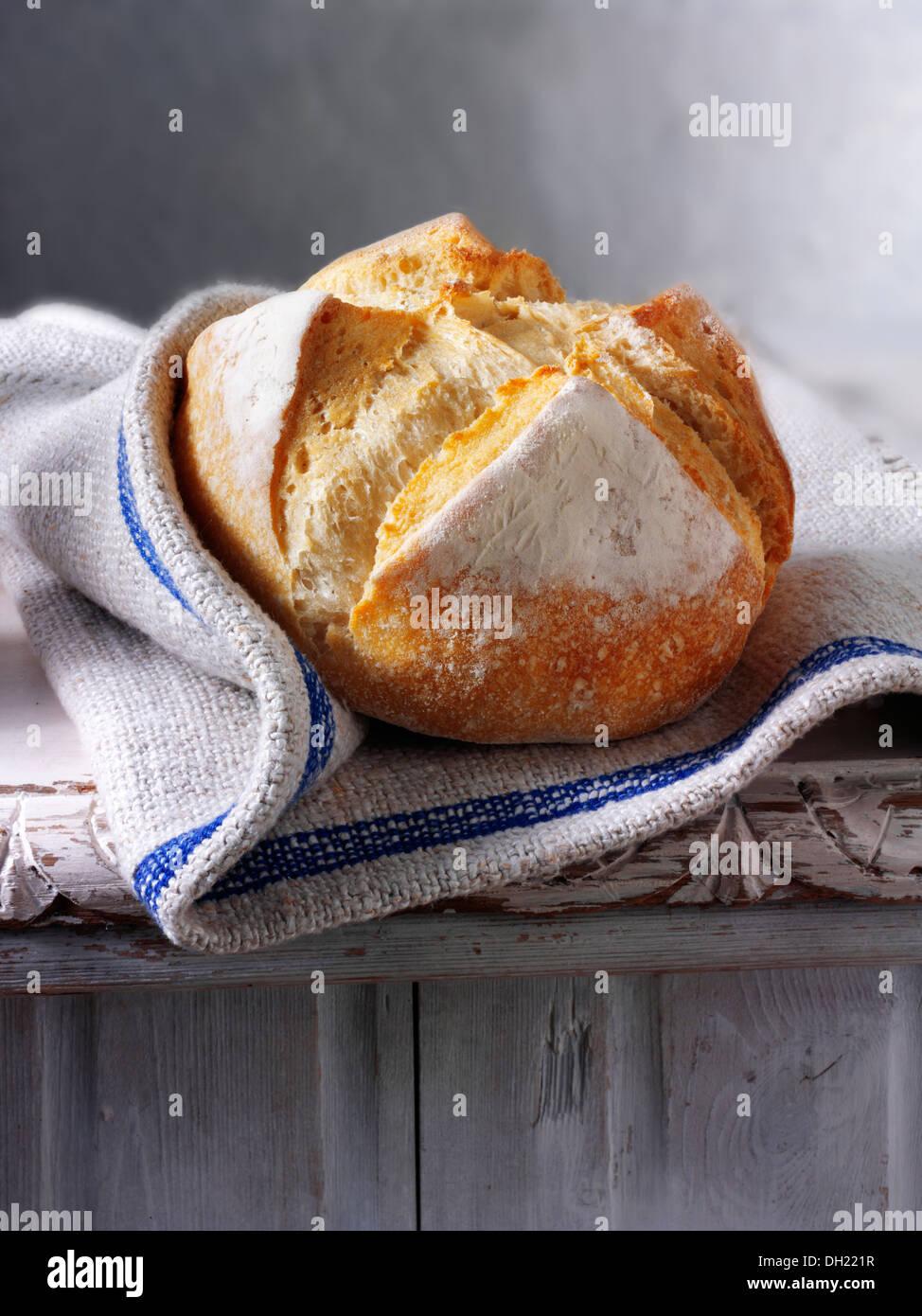 Organico artigianale pain au Levain Pane francese Immagini Stock