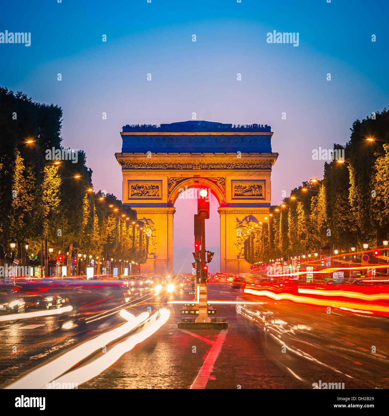 Arco di Trionfo, Parigi Immagini Stock
