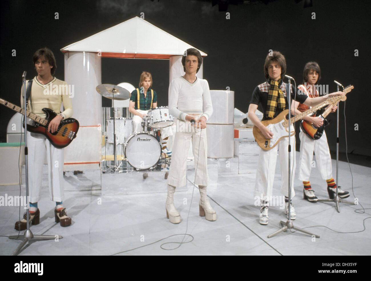 BAY CITY RULLI UK gruppo pop nel 1975 Immagini Stock