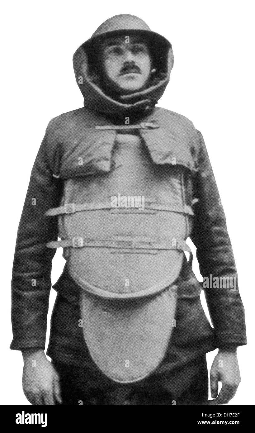 Giubbotti antiproiettile. British grande guerra armatura per il corpo Immagini Stock