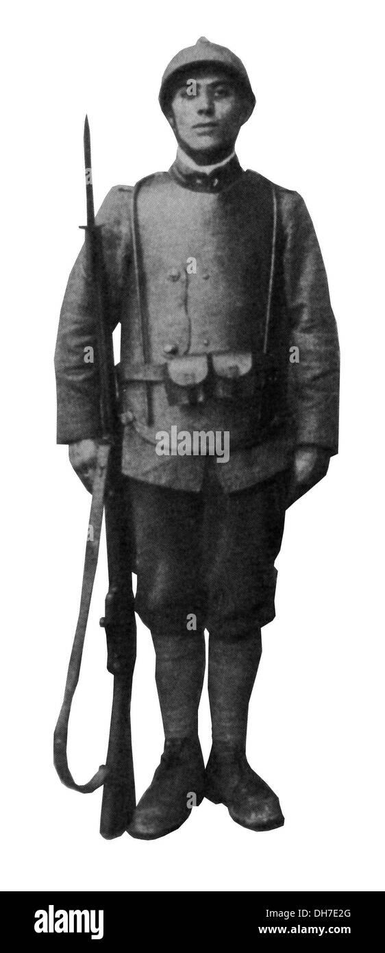 Giubbotti antiproiettile. WW1 Italiano di armatura per il corpo Immagini Stock