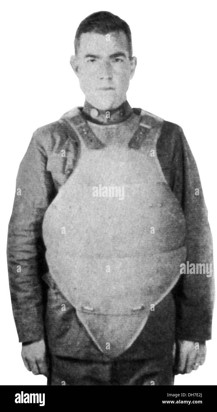 Giubbotti antiproiettile. Grande guerra American armatura per il corpo Immagini Stock