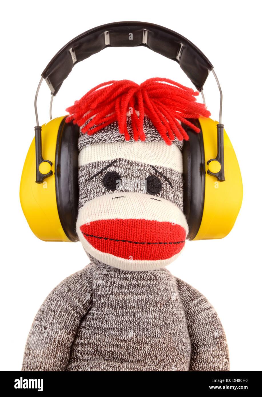 Cuffie per la protezione dell'udito Immagini Stock