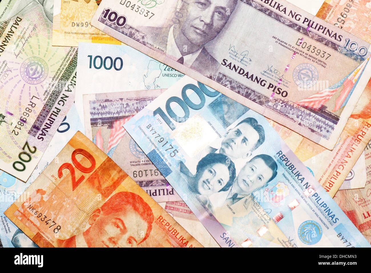 Assortiti Pesos filippino Immagini Stock