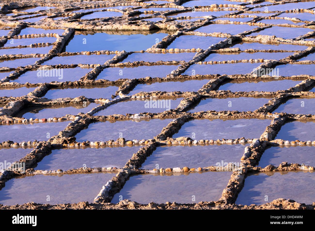 Opere di sale nelle rocce Immagini Stock