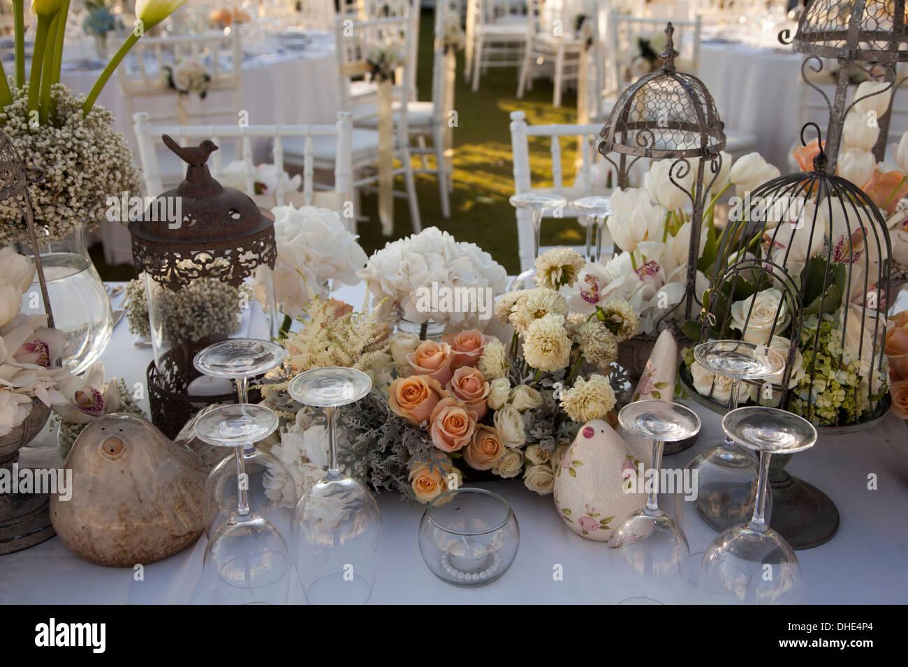 Decorazioni Matrimonio Arancione : Matrimonio della decorazione della tavola arancione di argilla di
