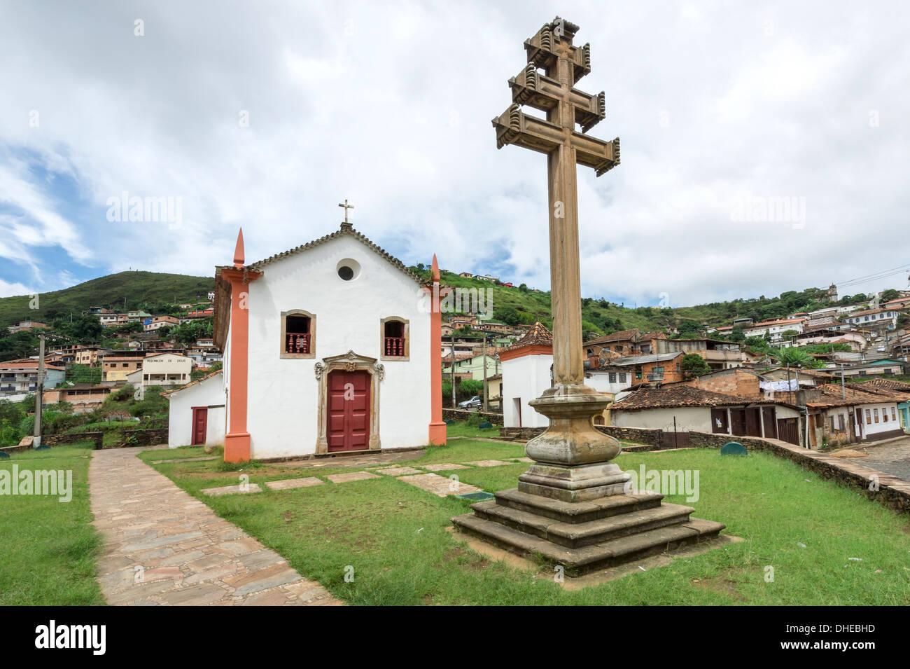 Padre Faria Chiesa, Ouro Preto, Sito Patrimonio Mondiale dell'UNESCO, Minas Gerais, Brasile Immagini Stock