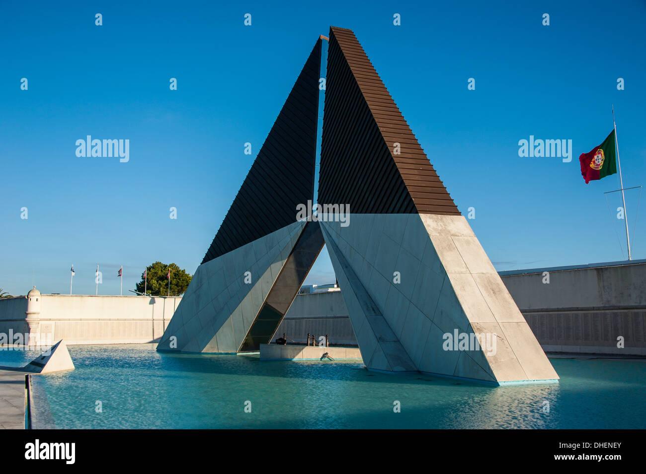 Monumento aos Combatentes do Ultramar, Belem, Lisbona, Portogallo, Europa Immagini Stock