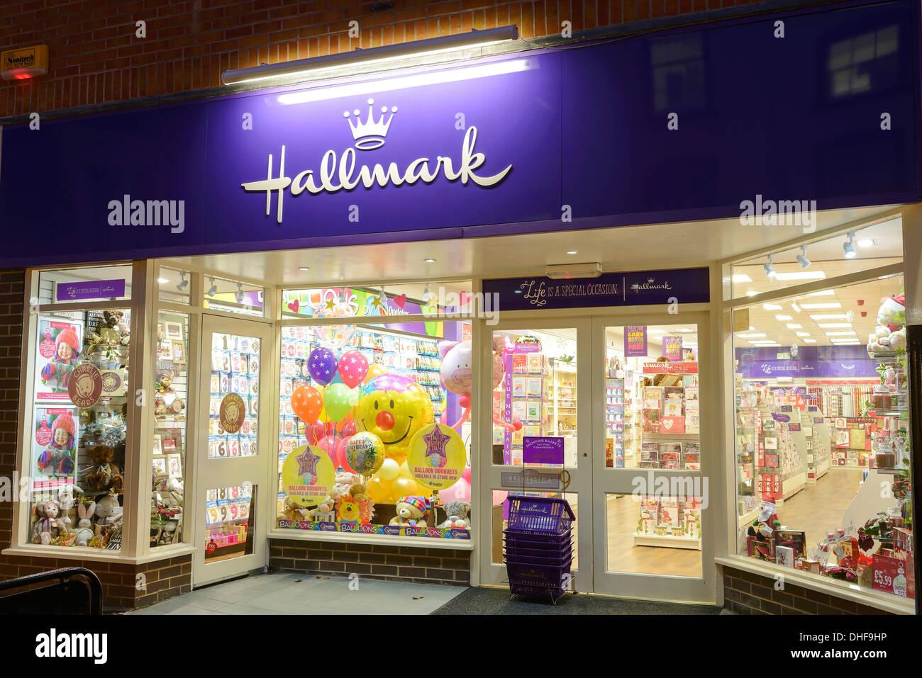 Hallmark Cards negozio di vendita al dettaglio parte anteriore Immagini Stock