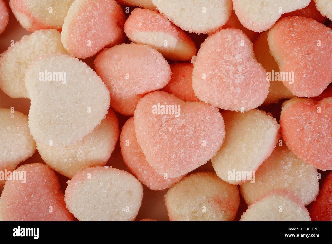 Gommoso a forma di cuore Immagini Stock