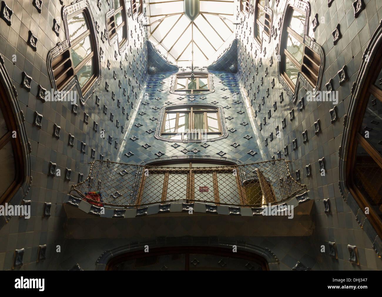 Casa Batllo, Barcellona, in Catalogna, Spagna, un famoso edificio di Antoni Gaudi Immagini Stock