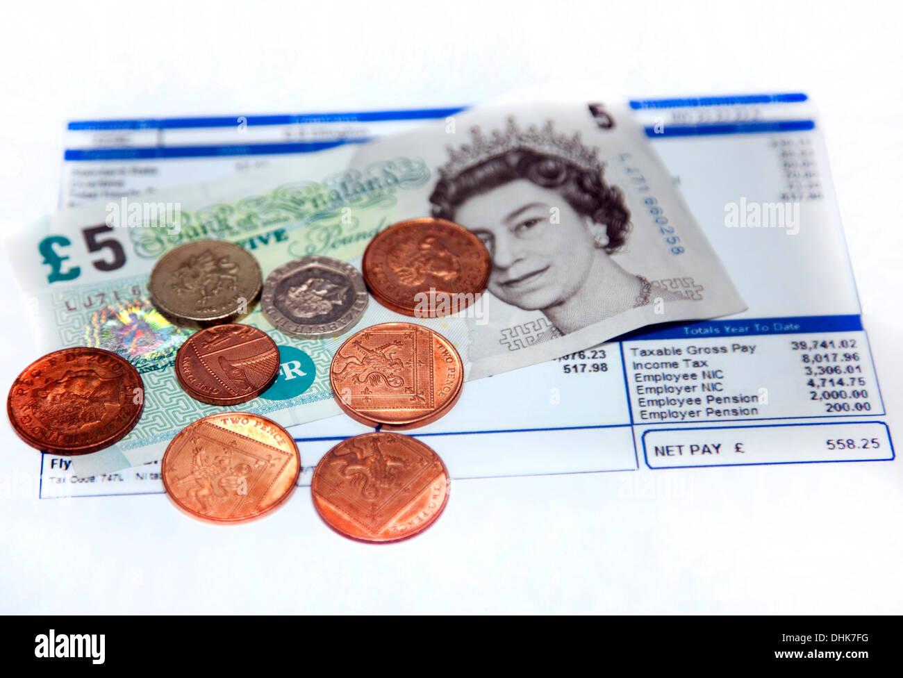 Salario nazionale minimo è di £6.31 per ora nel novembre 2013 Immagini Stock