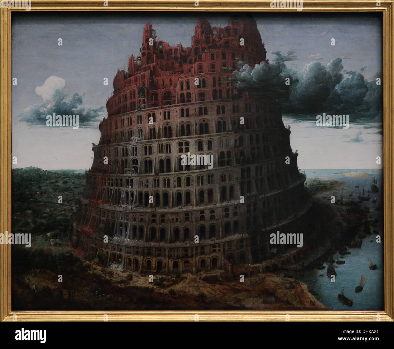 Pieter Brueghel il Vecchio.(Bruegel) La Torre di Babele. Circa 1565. Olio su pannello. Immagini Stock