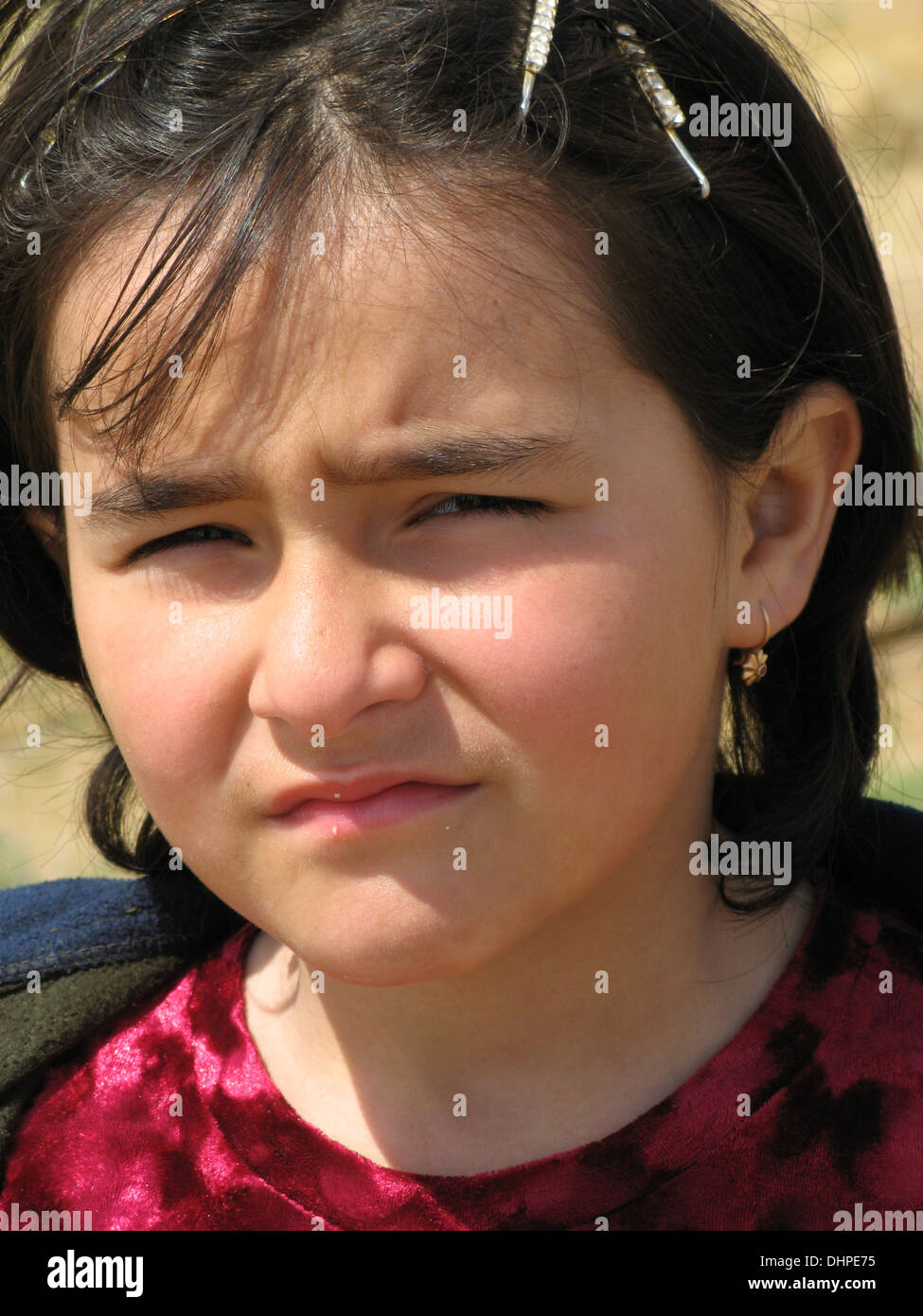 Ragazza tradizionale in Samarcanda, Uzbekistan Immagini Stock