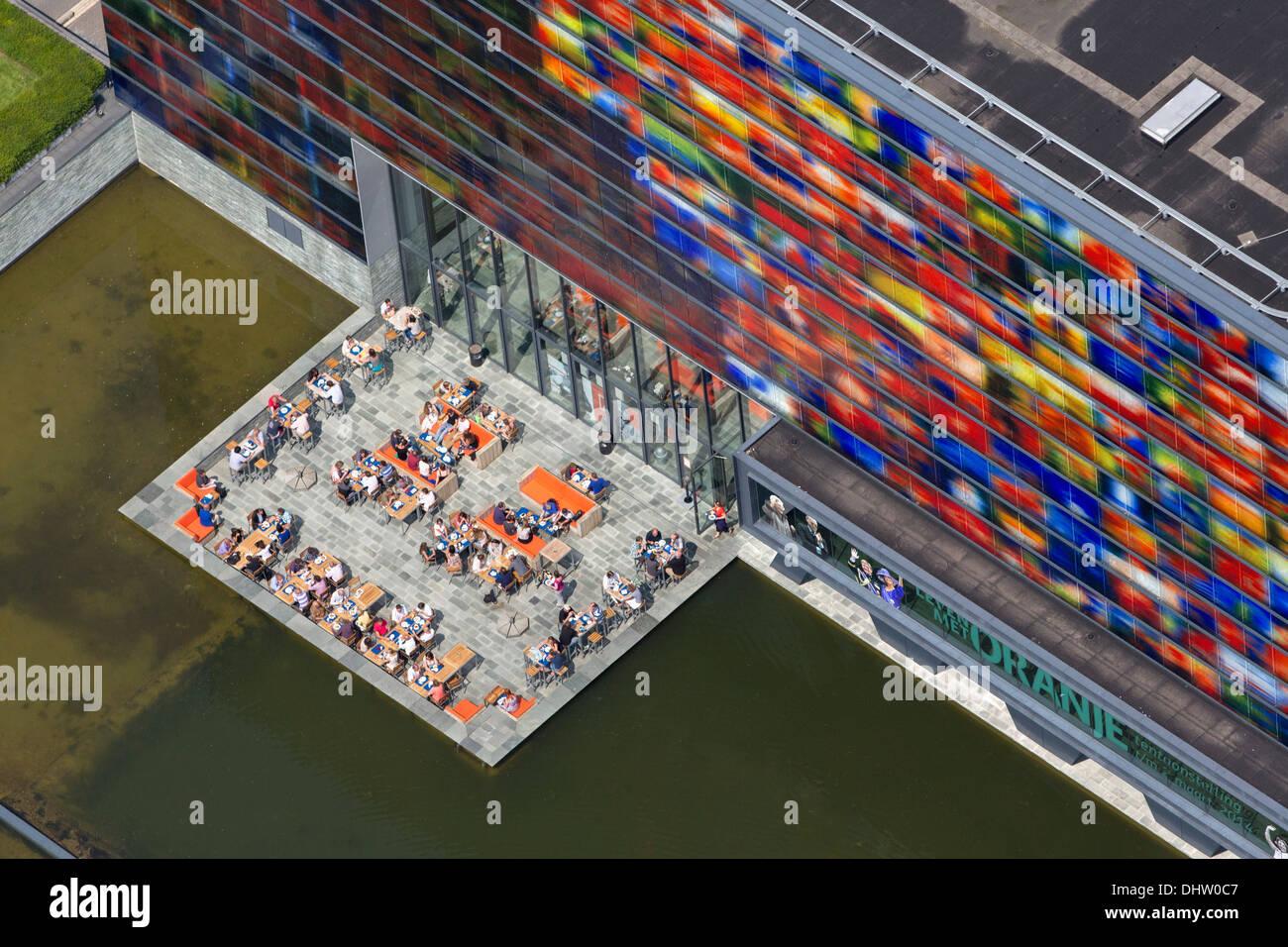 Paesi Bassi, Hilversum, Paesi Bassi Istituto per suono e visione nella zona per la cross media chiamato Mediapark. Antenna Immagini Stock