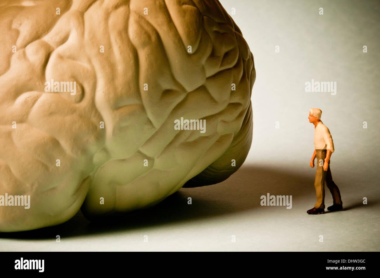 Il morbo di Alzheimer e malattie mente concetto Immagini Stock