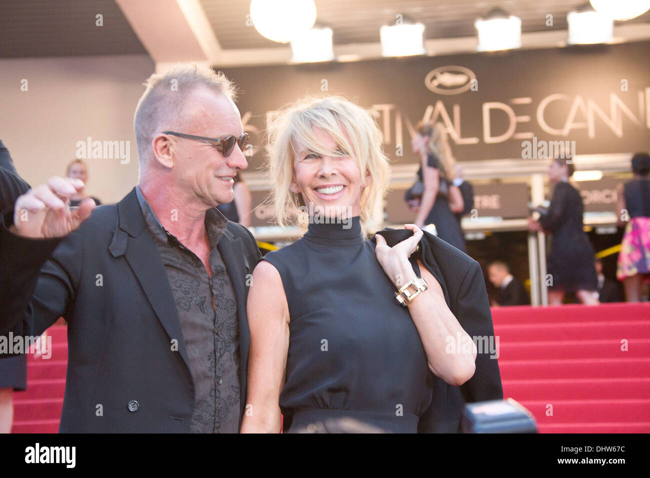 """Sting e sua moglie Trudie Styler, 'Mud"""" premiere durante il sessantacinquesimo annuale di Cannes Film Festival. Cannes, Francia - 26.05.12 Immagini Stock"""