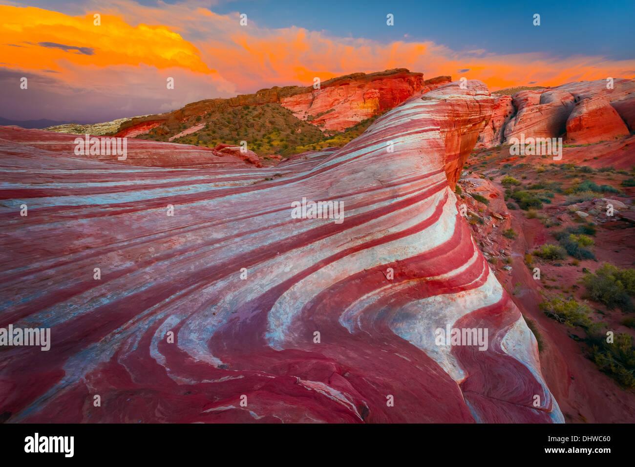 La Valle del Fuoco del parco statale, Nevada Immagini Stock