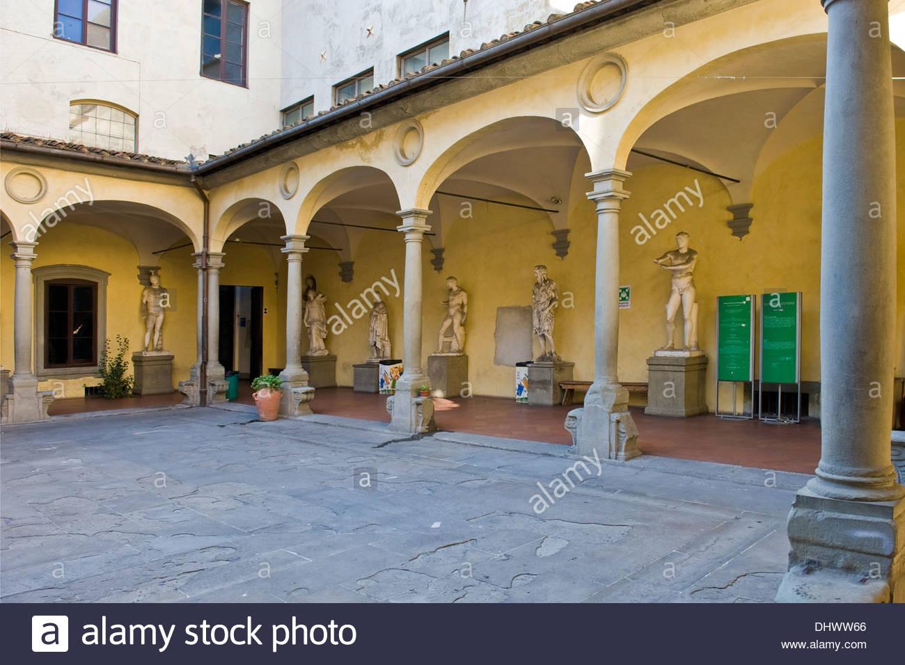 Accademia di belle arti,Firenze Immagini Stock