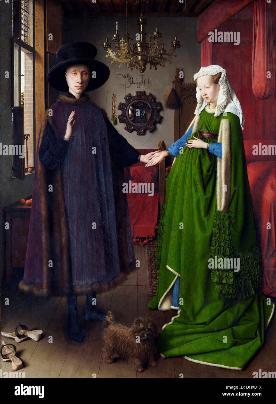 Il Ritratto di Arnolfini - di Jan van Eyck, 1434 Immagini Stock