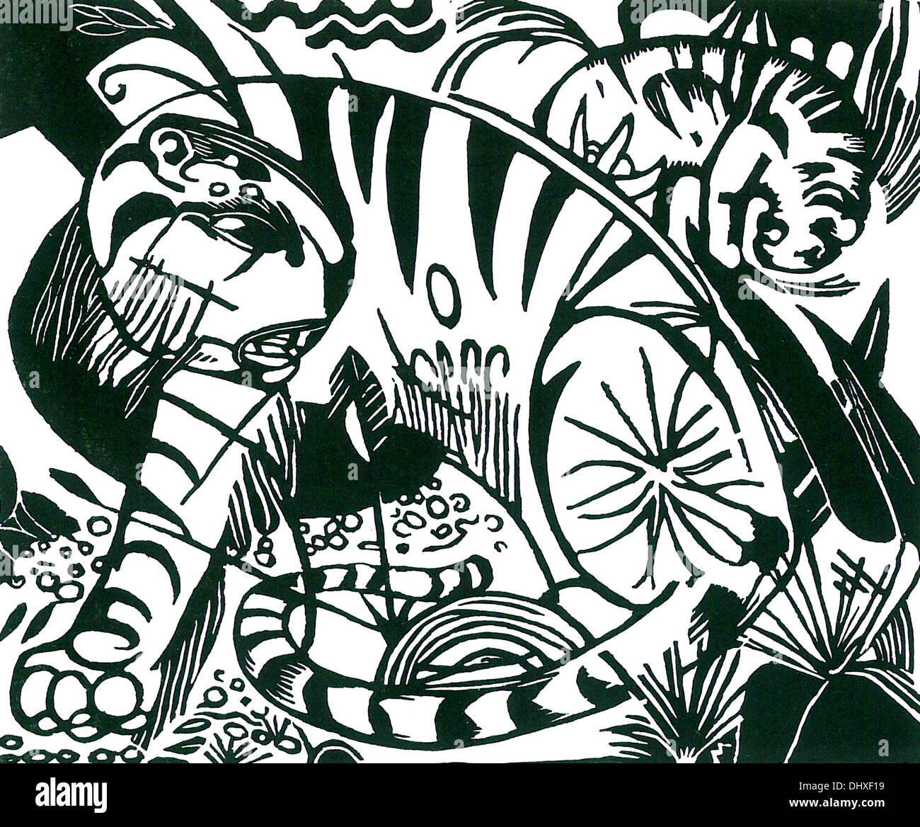 Tiger - da Franz Marc, 1912 Immagini Stock