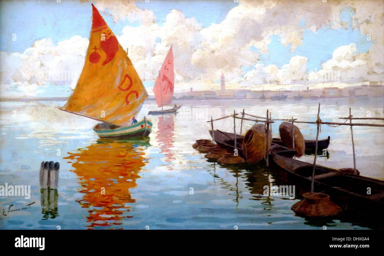 Marina veneziana - Da Enrique Simonet, 1890 Foto Stock