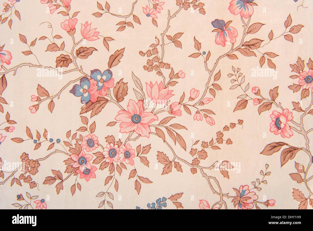 Wallpaper vecchio texture floreali Immagini Stock