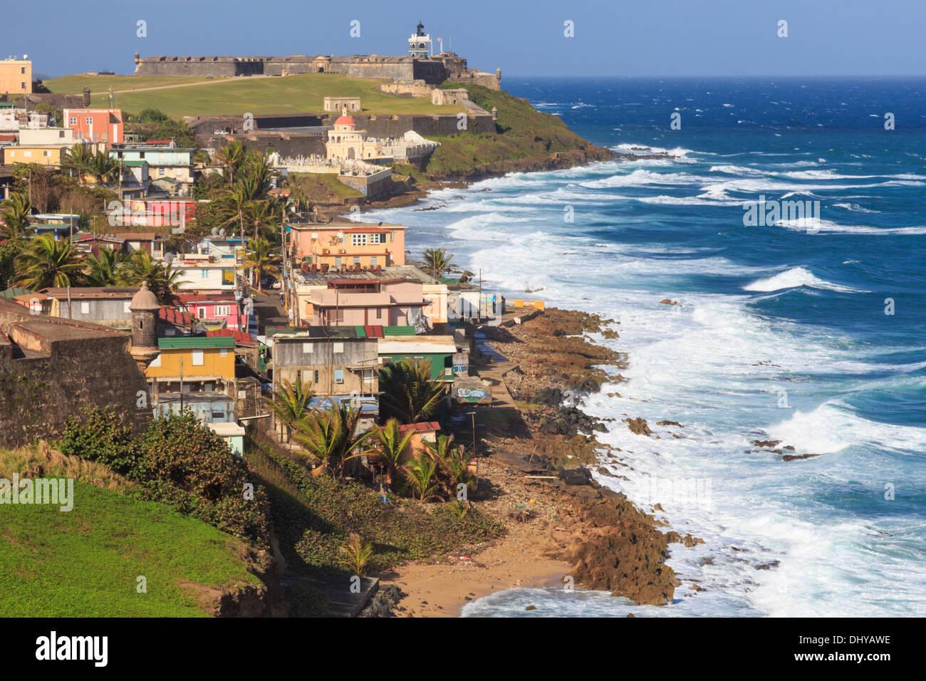 El Morro fort in San Juan, Puerto Rico Immagini Stock
