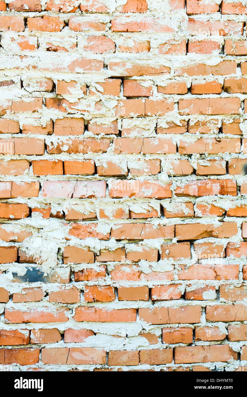 Vecchio rosso mattone sfondi di parete Immagini Stock