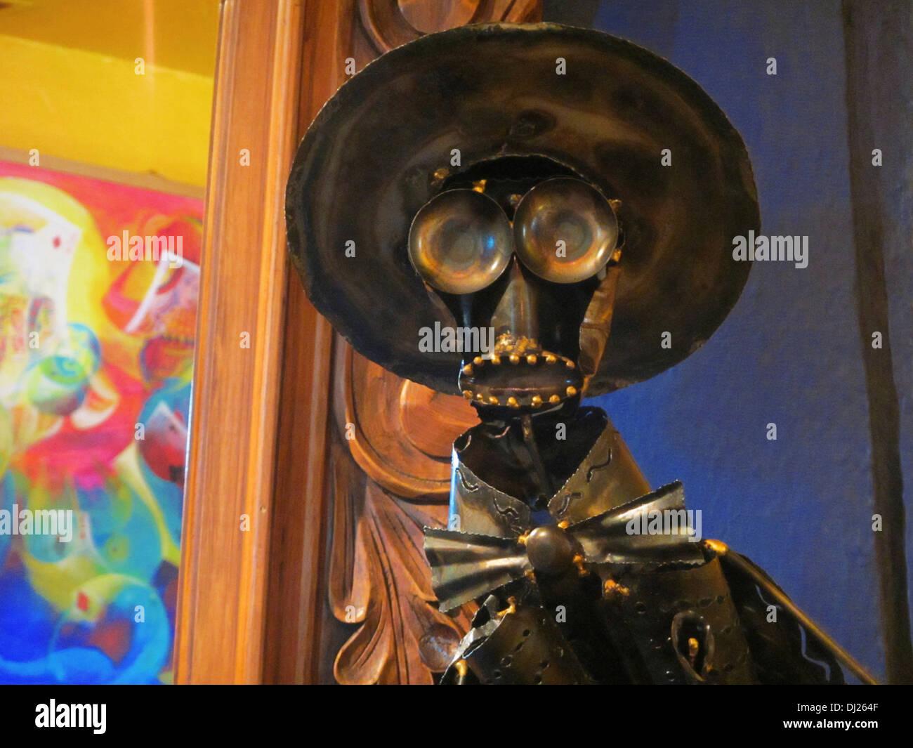 Una scultura realizzata per il giorno dei morti o Día de Muertos vacanza in Messico. Foto Stock