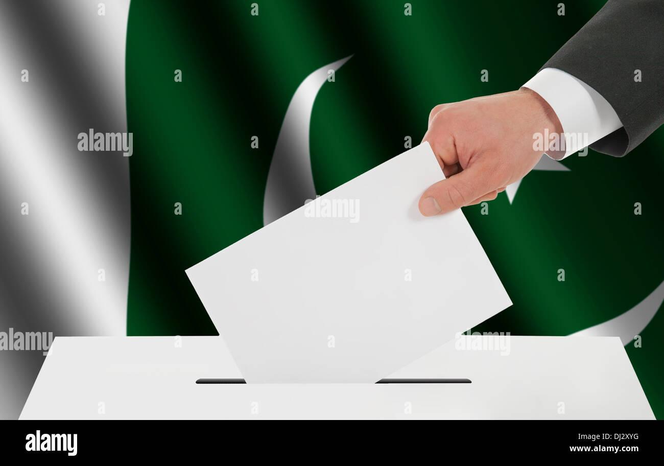 La bandiera pakistana Immagini Stock