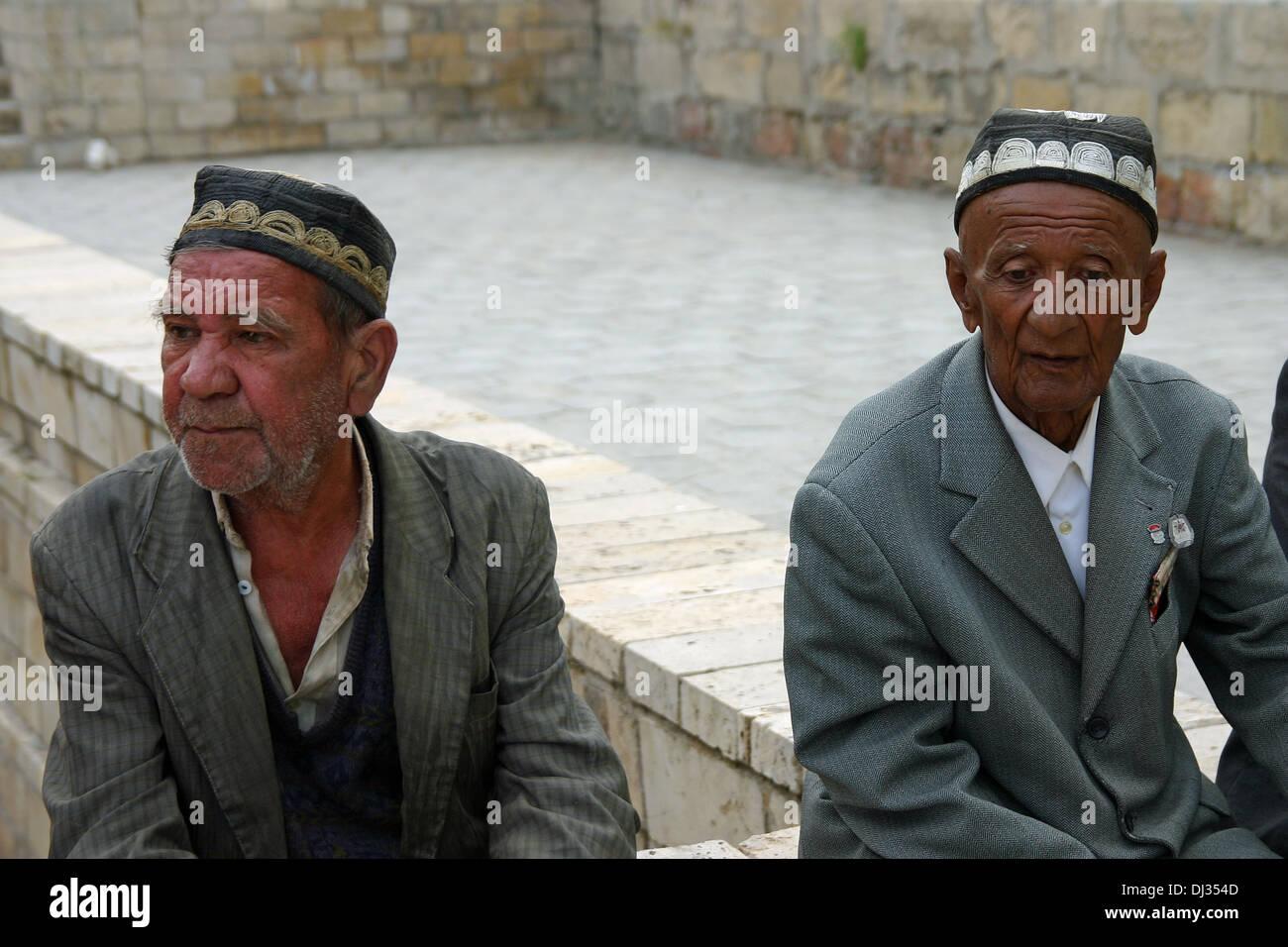 Tradizionali di colleghi in Samarcanda, Uzbekistan Immagini Stock