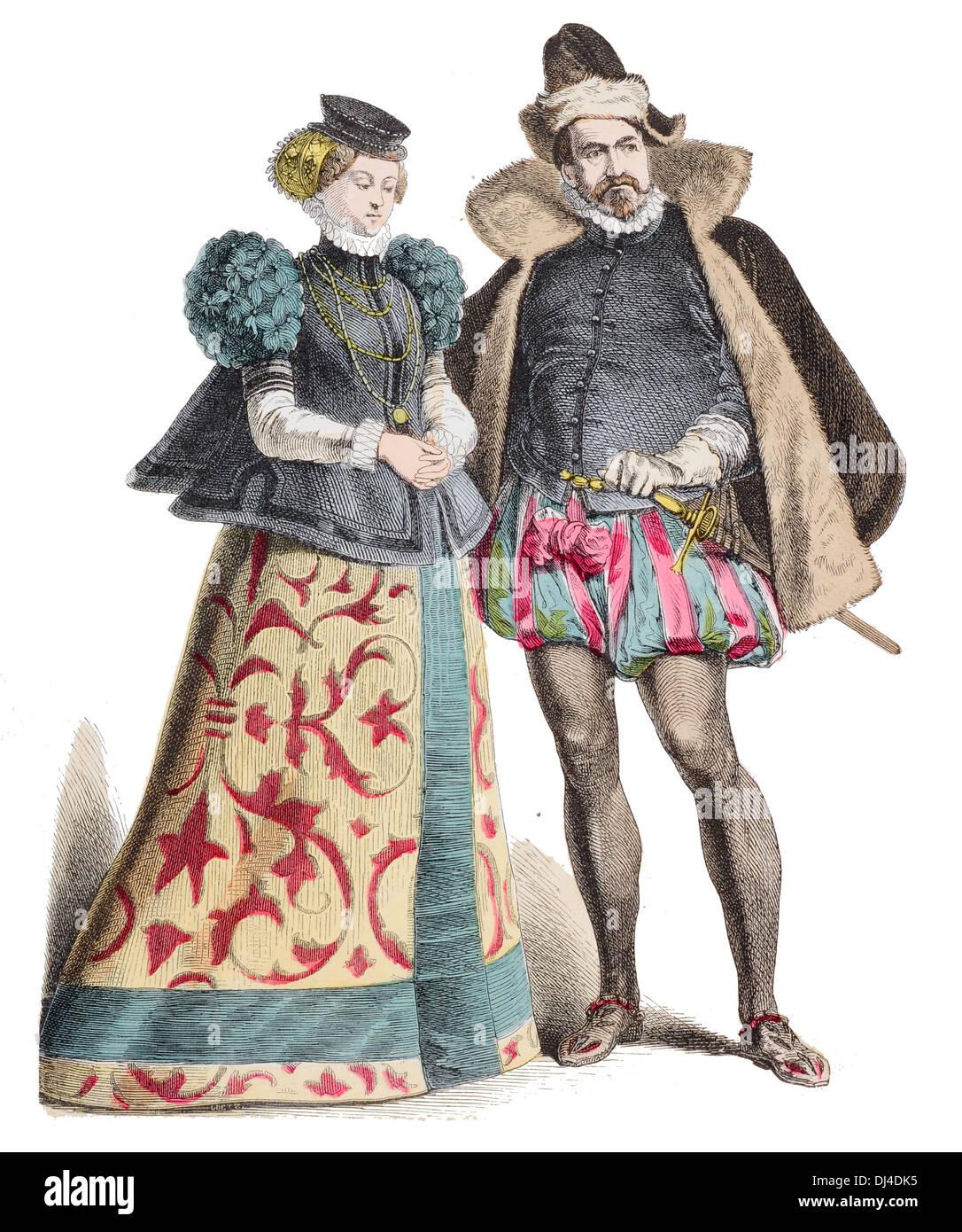 Nobiltà tedesco del Palatinato del XVI secolo Immagini Stock