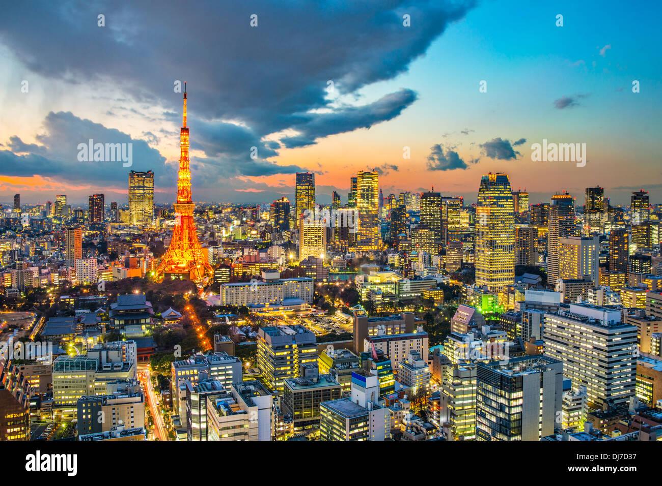 La Torre di Tokyo a Tokyo in Giappone Immagini Stock