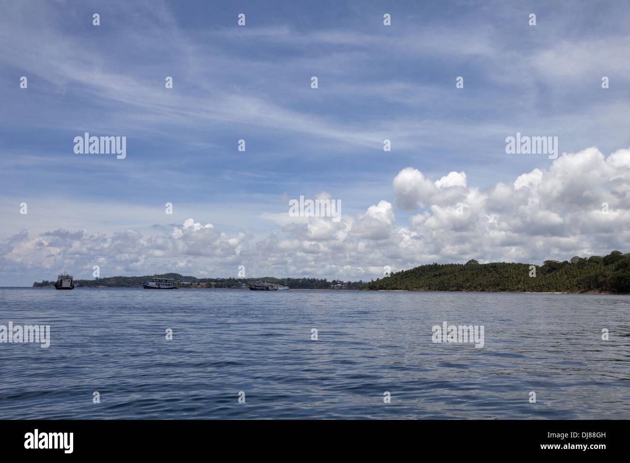 Mare delle Andamane, Boa Jolly beach, isole Andaman, India Immagini Stock