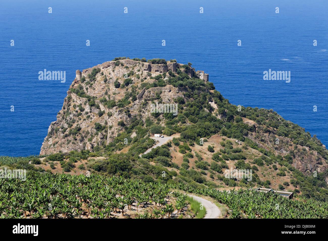 Antica città di Antiochia ad Cragum, Gazipasa, provincia di Antalya, Riviera Turca, Turchia Immagini Stock