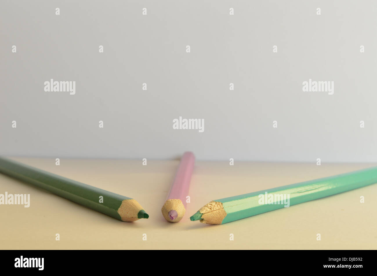 Matita colorata suggerimenti, matite colorate,forme a matita Immagini Stock