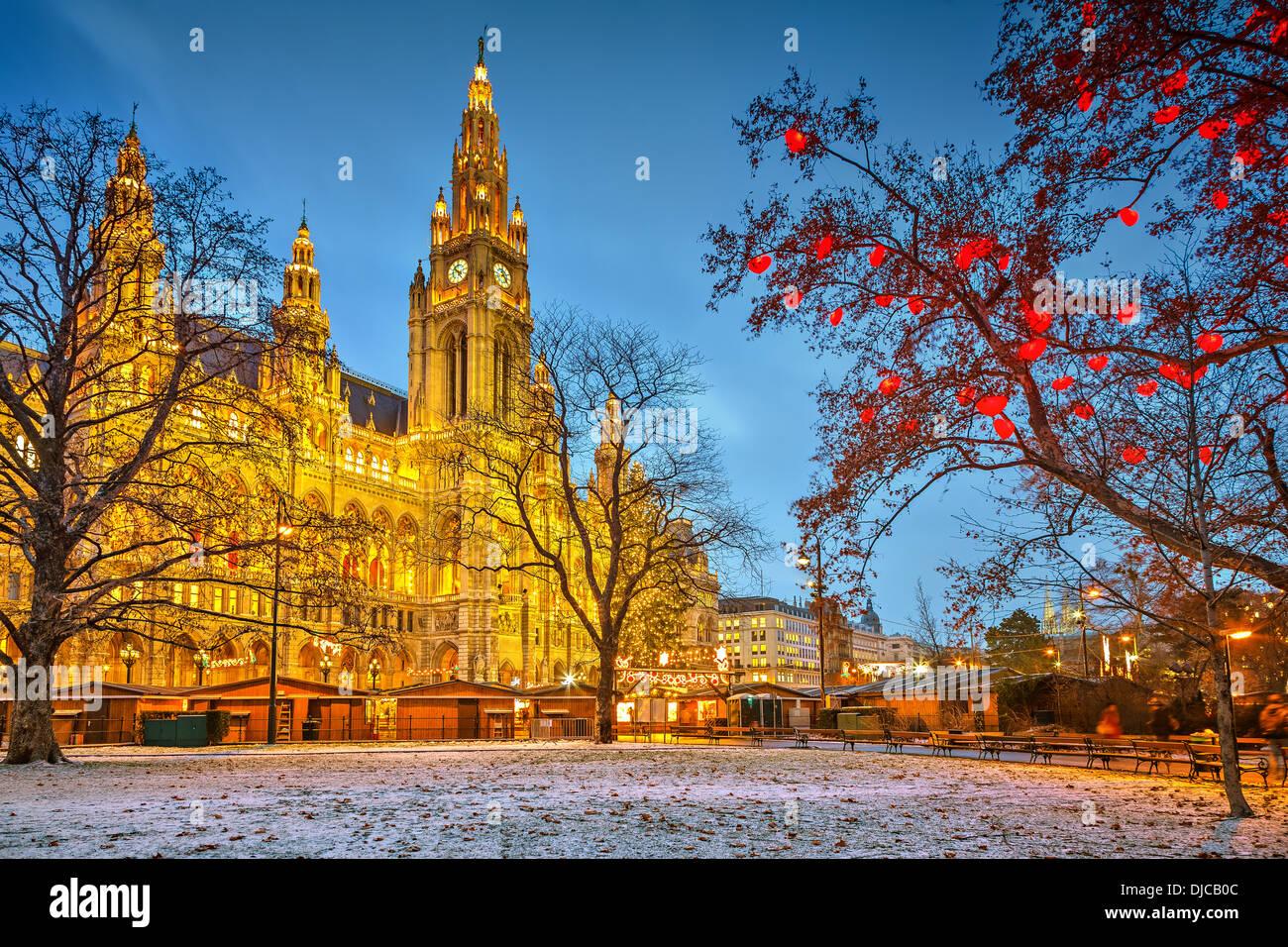 Vienna town hall Immagini Stock