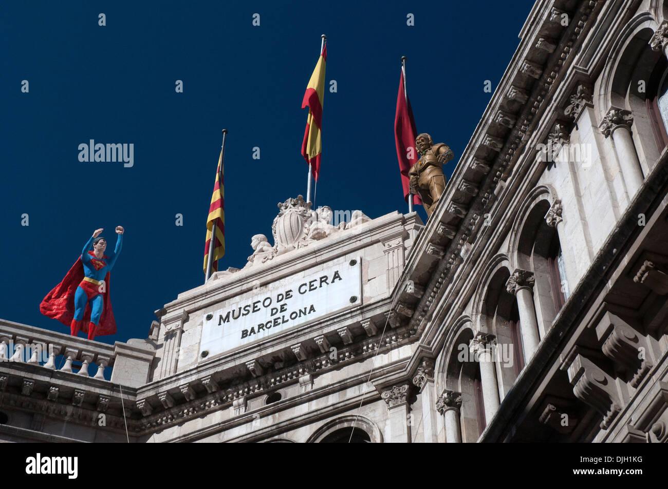 Museo de Cera waxworks museum la rambla Barcellona Catalonia Spagna Immagini Stock
