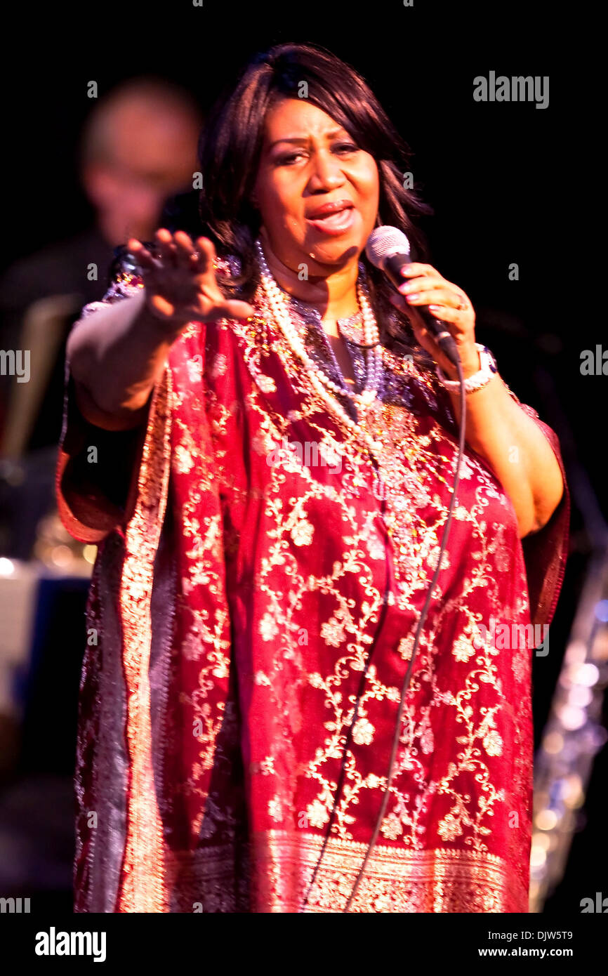 Regina del Soul, Aretha Franklin, suona dal vivo presso il National Art Center di Ottawa, Ontario, Canada. (Credito Immagine: © Leon Svizz/Southcreek globale/ZUMApress.com) Foto Stock