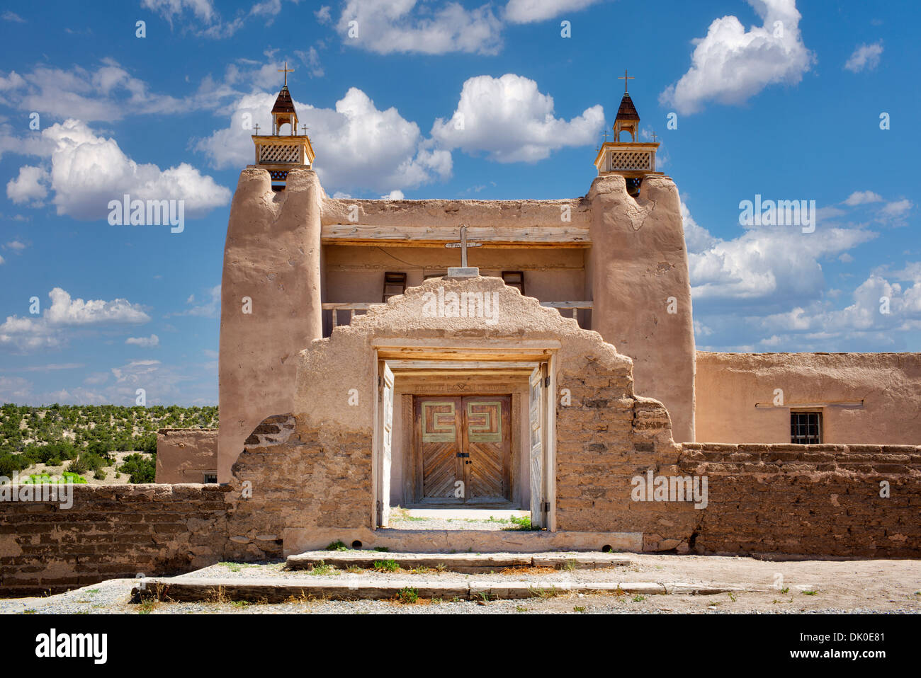 San Jose de Gracia chiesa cattolica. Nuovo Messico Immagini Stock