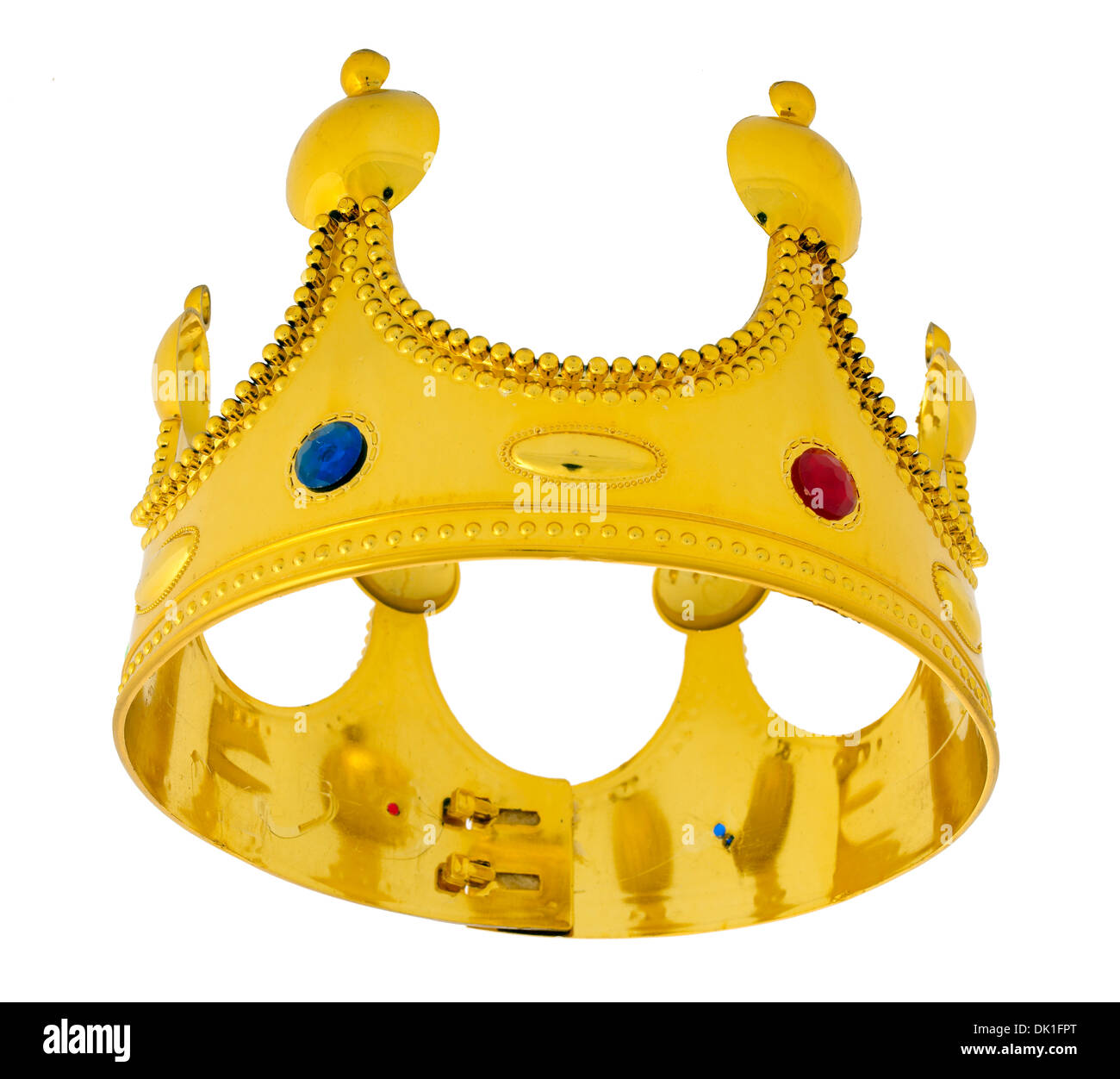 Jeweled Gold Crown hat Immagini Stock