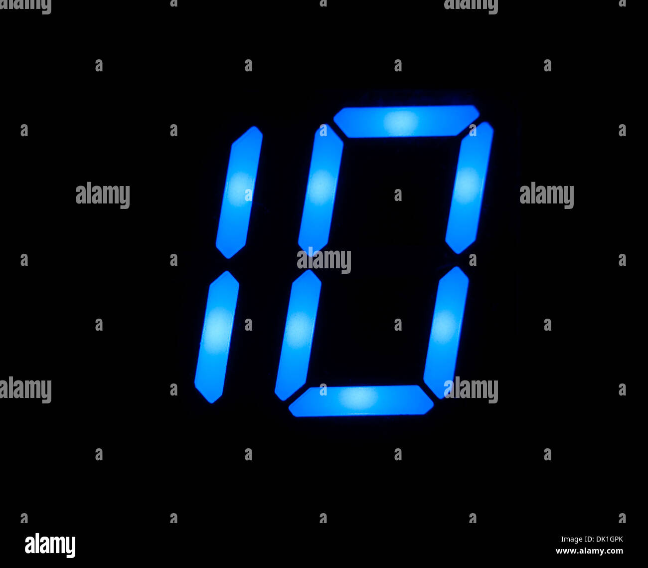 Blu numero digitale 10 Immagini Stock