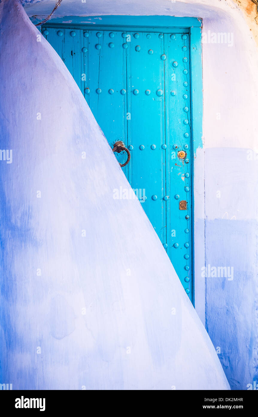 Il bel blu medina di Chefchaouen in Marocco Immagini Stock