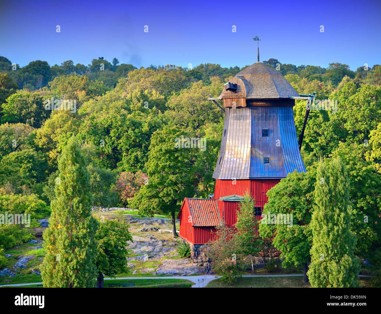 Vecchia fattoria a Helsinki in Finlandia. Immagini Stock