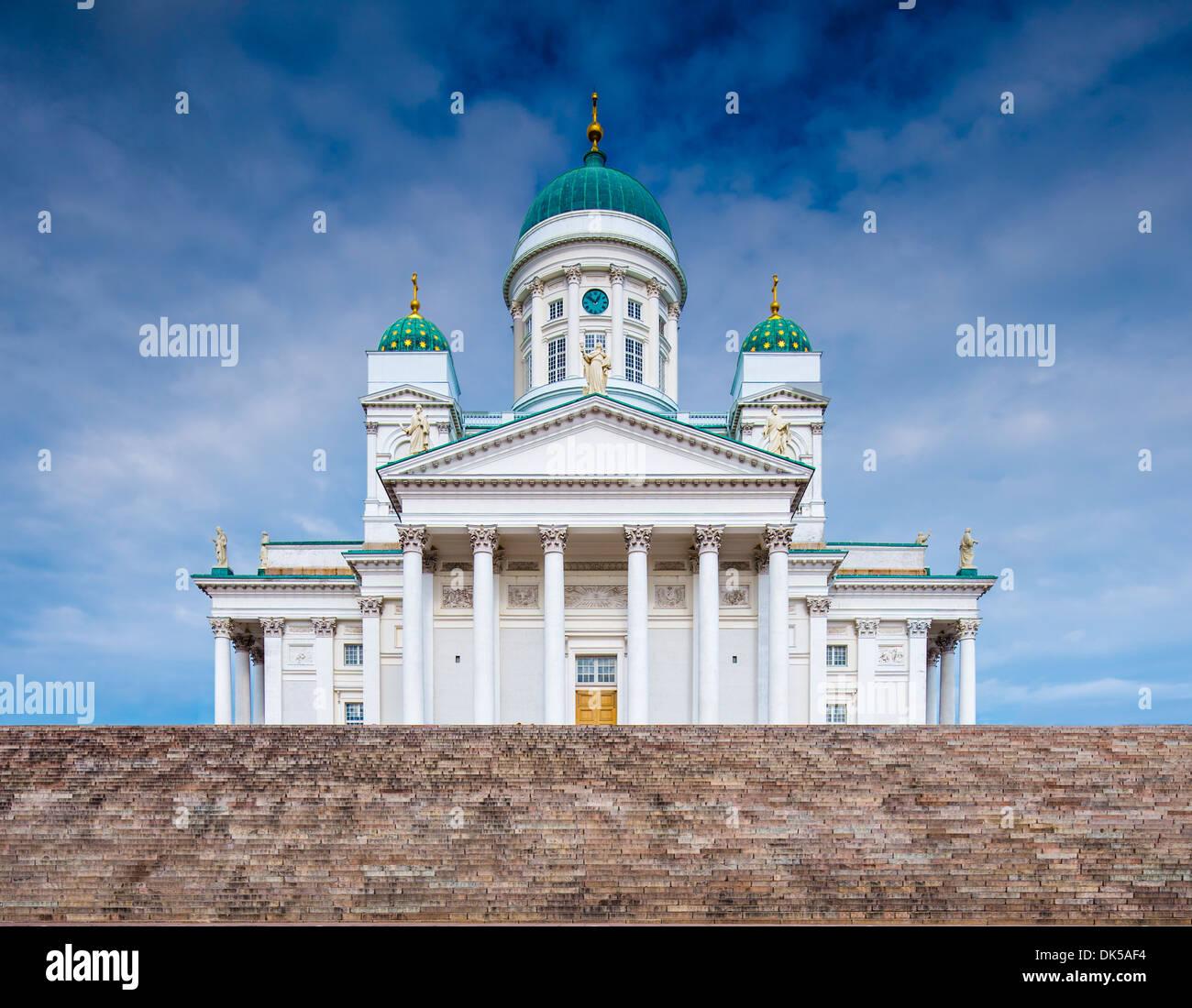 La Cattedrale di Helsinki in Helskini, Finlandia. Immagini Stock
